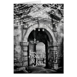 Enchanting Archway with Romantic Lights Thank You Card