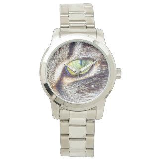 Enchanting_Cats_Eye_Large_Unisex_Silver_Watch Watch