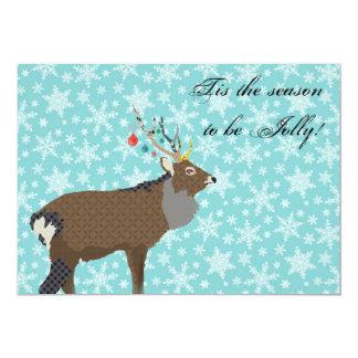 Enchanting Elk Christmas Invitation