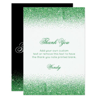 Enchanting Emerald Heels, Thank You Cards