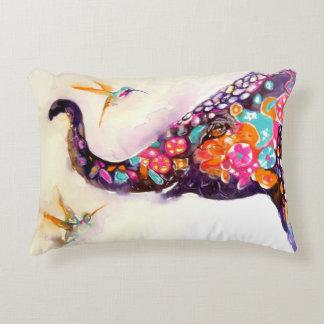 """Enchanting Friends"" Hummingbird & Elephant Decorative Cushion"