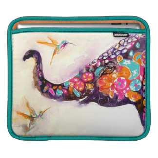"""Enchanting Friends"" Hummingbird & Elephant Sleeves For iPads"