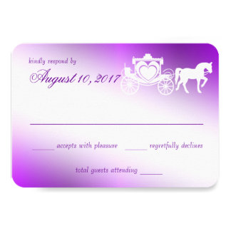 Enchanting Purple Fairy Tale Response Card
