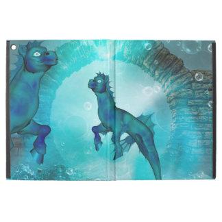 Enchanting seahorse in a fantasy underwater world
