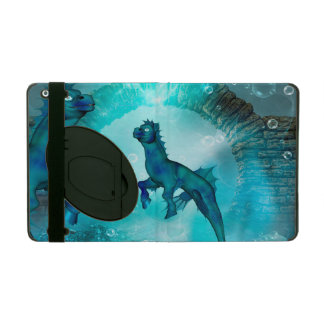 Enchanting seahorse in a fantasy underwater world cover for iPad