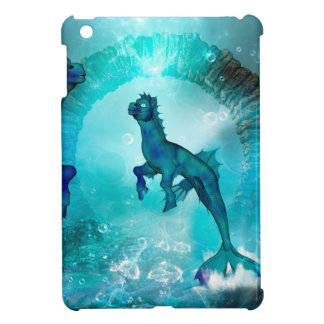 Enchanting seahorse in a fantasy underwater world cover for the iPad mini