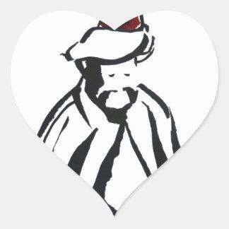enchanting sufi heart sticker
