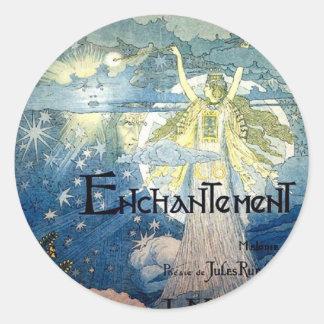 Enchantment Art Nouveau Classic Round Sticker