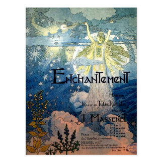 Enchantment Art Nouveau Postcard