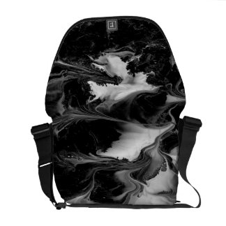 ENCHANTMENT  (black & white abstract art) ~ Commuter Bag
