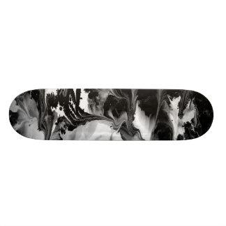ENCHANTMENT  (black & white abstract art) ~ Skate Board Decks