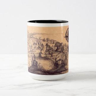 Enchantment Map Black 15 oz Two-Tone Coffee Mug