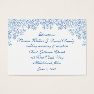 Enchantment White & Blue Direction Cards