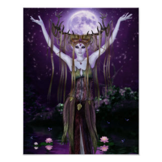 Enchantments of the Night Creatures Canvas/Poster Poster