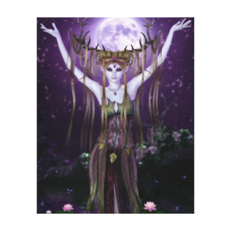 Enchantments of the Night Creatures Wrapped Canvas Canvas Print