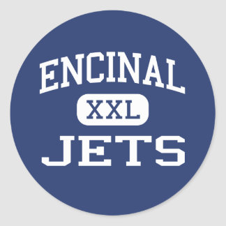 Encinal - Jets - High School - Alameda California Round Sticker