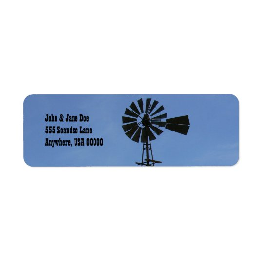 Encino, NM Windmill Return Address Label