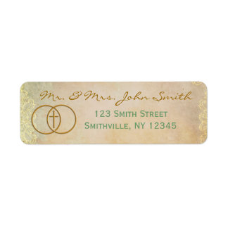 Encircled Cross Address Label (Matching Set)