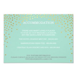 ENCLOSURE chic rustic mini gold confetti mint 9 Cm X 13 Cm Invitation Card