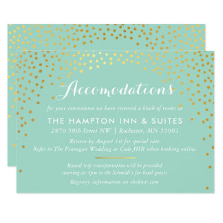 ENCLOSURE chic rustic mini gold confetti mint Card