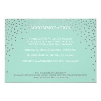 ENCLOSURE chic rustic mini silver confetti mint 9 Cm X 13 Cm Invitation Card