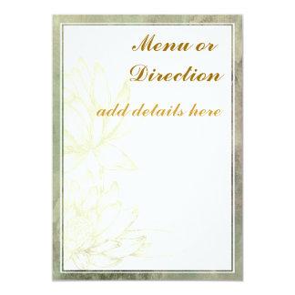 "Enclosure or Menu Card 5"" X 7"" Invitation Card"