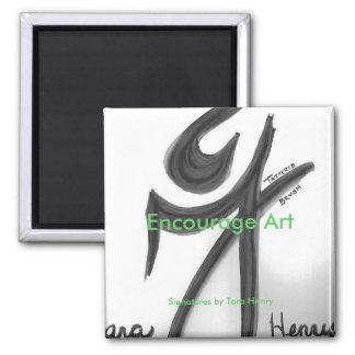 'Encourage Art' Magnet featuring 'Signatures'