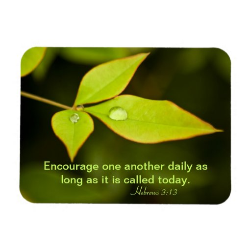 Encourage One Another Vinyl Magnets