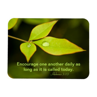 Encourage One Another Rectangular Photo Magnet