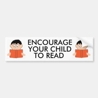 Encourage Your Child to Read Bumpersticker Car Bumper Sticker