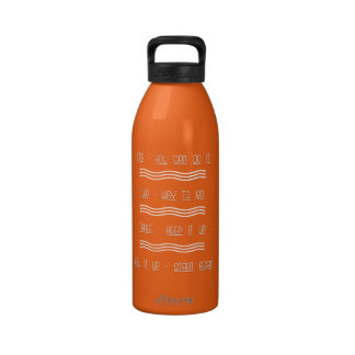 Encouragement 1-2-3 water bottle with waves