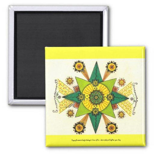 "Encouragement - 2"" Sq Magnet (yellow)"