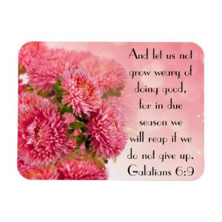 Encouragement bible verse Galatians 6:9 Rectangular Photo Magnet