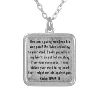 encouragement bible verse Psalm 119 necklace