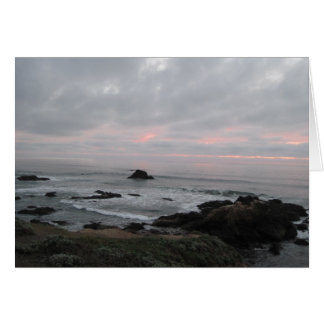 Encouragement Card: Rocky Coastline at Sunset Card