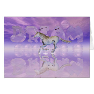 Encouragement Card, Unicorn chase your dream Card