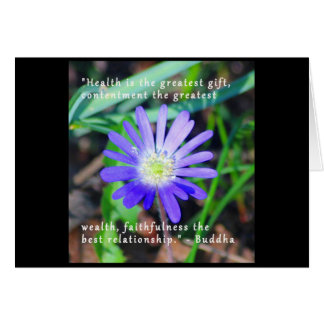 Encouragement Floral Themed Notecard Greeting Card