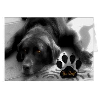 Encouragement for the Labrador Retriever Dog Lover Greeting Card