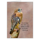 Encouragement, Get Well, Spiritual, Hawk on a Limb Card