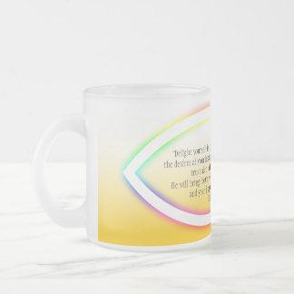 Encouragement  mug with Christianity Fish Symbol