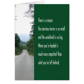 Encouragement Quote Rearview Mirror Card