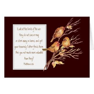 Encouragement Scripture, Matthew 6:26, Card