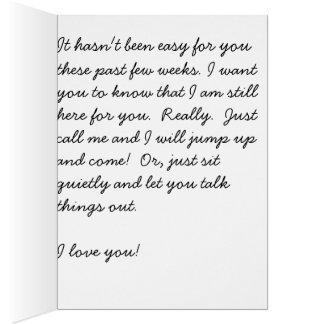 Encouragement/Sympathy Greeting Card