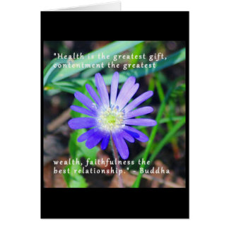 Encouragement Wildflower Themed Notecard Greeting Card