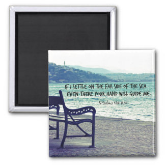 Encouraging Bible Verse Quote Square Magnet