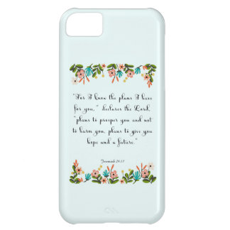 Encouraging Bible Verses Art - Jeremiah 29:11 iPhone 5C Case