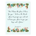 Encouraging Bible Verses Art - Jeremiah 29:11 Postcard