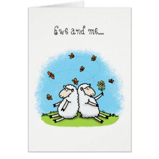 Encouraging card cute sheep.