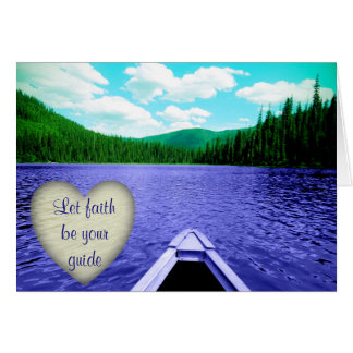 "Encouraging Card ""Let Faith be Your Guide"" Canoe"