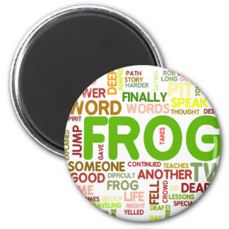Encouraging Frogs 6 Cm Round Magnet